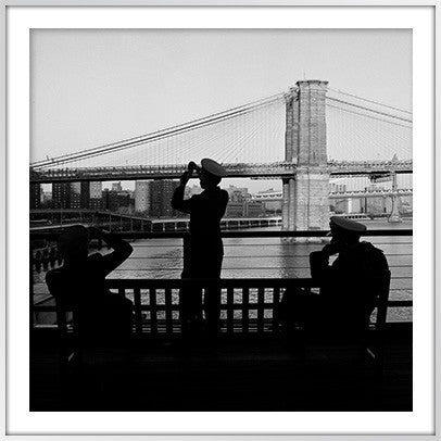 Sailors at Brooklyn Bridge