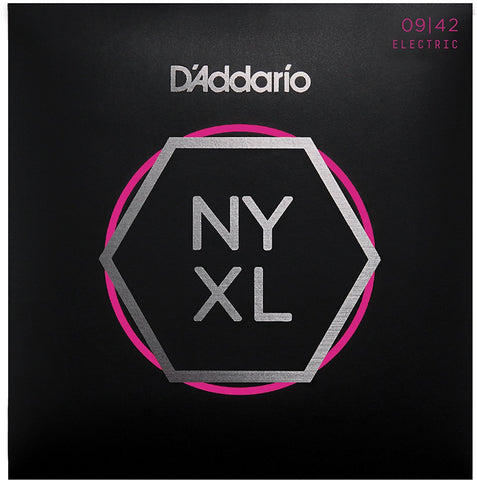 D'Addario NYXL0942 Nickel Plated Electric Guitar Strings, Extra Light