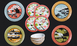 12 Piece Retro Dish Set