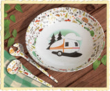 3 Piece Retro Bowl & Serving Set