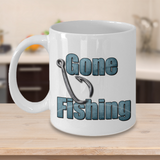 Camping Coffee Cup - Gone Fishing Mug