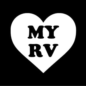 Heart My RV Vinyl Decal