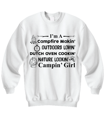 Campin' Girl Sweatshirt