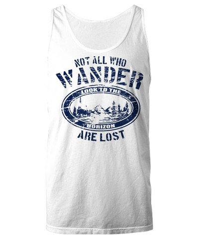 RVing Tank Top - Not All Who Wander Are Lost