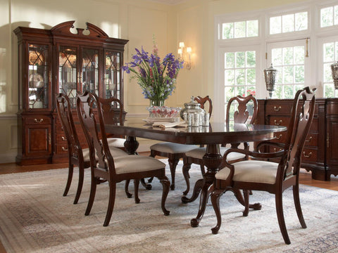 American Cherry Fredericksburg Dining Table Top and Base
