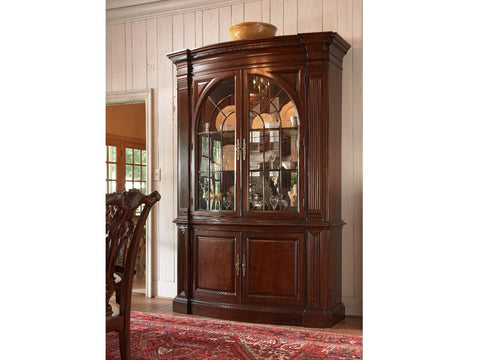 American Cherry Charleston Display Cabinet Base and Deck