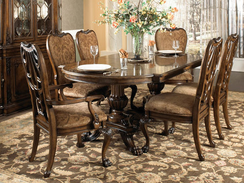 Belvedere Ped Dining Table Top and Base