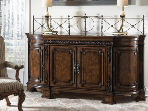 Belvedere Credenza With Wood Top