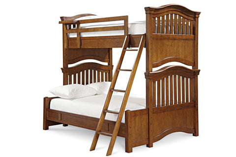 Universal Furniture Classic 4.0 Complete Bunk Bed Twin Over Full - Saddle Brown