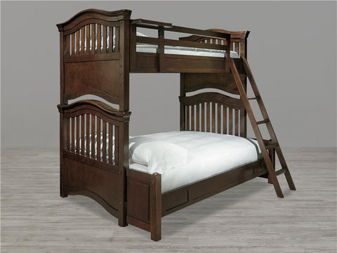 Universal Furniture Classics 4.0 Twin Over Full Bunk Bed - Classic Cherry