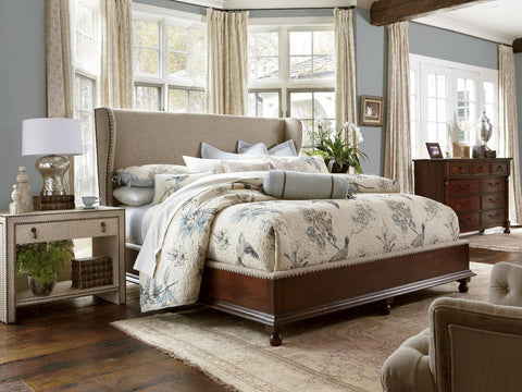 Harbor Springs King Upholstery Shelter Bed