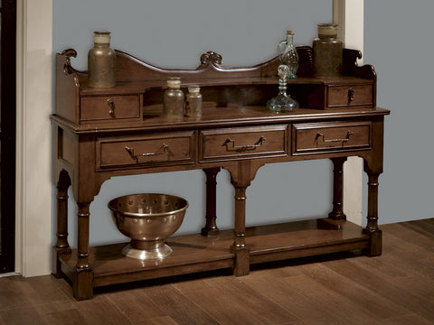 Harbor Springs Long Console Hutch and Base