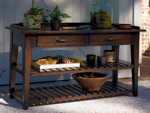 Universal Furniture Down Home TV Console Serving Table