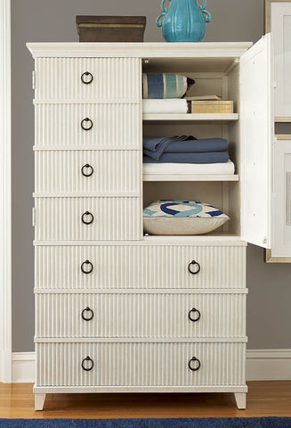 Universal Furniture Silhouette Tall Chest  (Plaster accent finish)