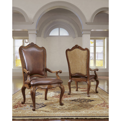 Universal Furniture Villa Cortina Uph Bk Arm Chair LEATHER