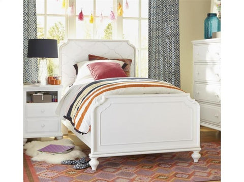 Black & White Panel Bed Twin - White