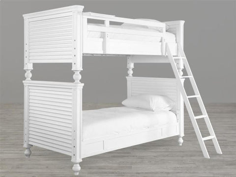 Universal Furniture Black & White Bunk Bed Rails 3/3 4/6 (set of 4)