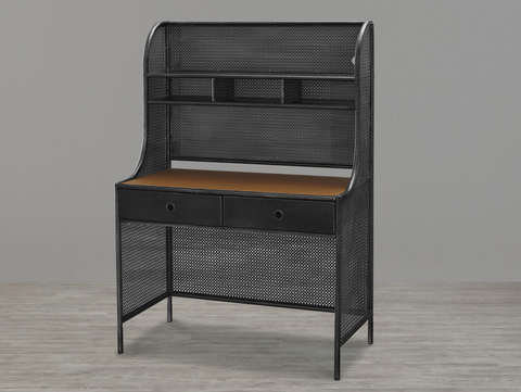 Black & White Metal Desk