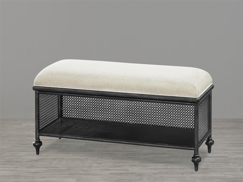 Black & White Metal Bed Bench