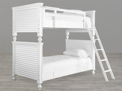 Universal Furniture Black & White Twin Bunk Bed - White Finish