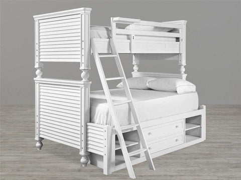 Universal Furniture Black & White Twin Over Full Bunk Bed - White Finish