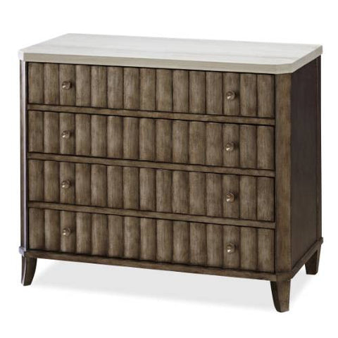 Universal Furniture California Accent Chest (stone top/champagne accent finish)