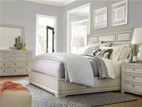 California Upholstered Panel Bed Queen