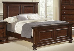 REFLECTIONS Dark Cherry King Sleigh Bed