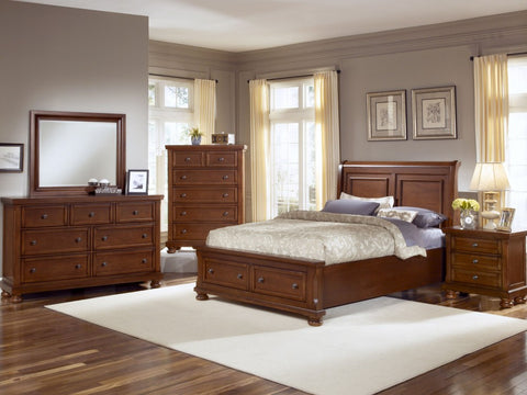 REFLECTIONS Medium Cherry 6/6 Sleigh Bed