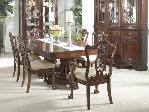 Antebellum Double Pedestal Dining Table Base and Top