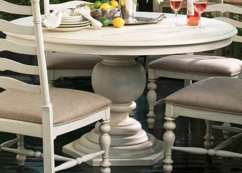 "Universal Furniture Paula Deen Home Round Pedestal Table Top (1 18""leaf)"