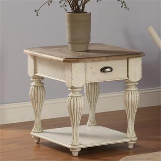Riverside Coventry Two Tone Rect End Table