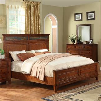 Riverside Craftsman Home California King Panel Bed