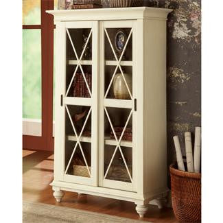 Riverside Coventry Two Tone Sliding Door Bookcase