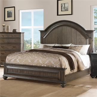 Riverside Belmeade King Arch Panel Bed w/ Storage Bed Rails