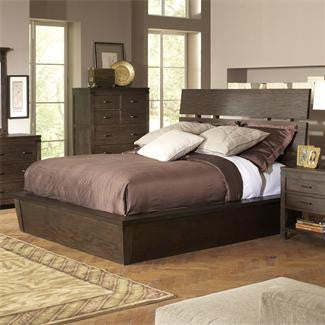 Riverside Promenade Queen Slat Panel Storage Bed