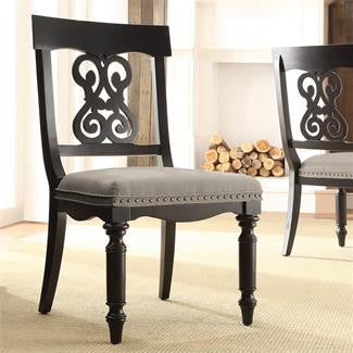 Riverside Belmeade Scroll Uph Side Chair 2in