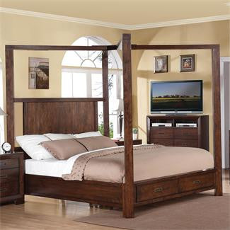 Riverside Riata Queen Canopy Storage Bed