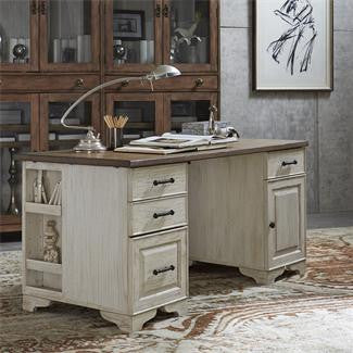 Riverside Aberdeen 62-In Ped Desk-Pedestals