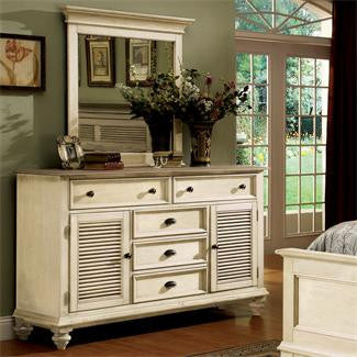Riverside Coventry Two Tone Shutter Door Dresser