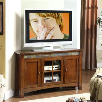 Riverside Craftsman Home Corner TV Console