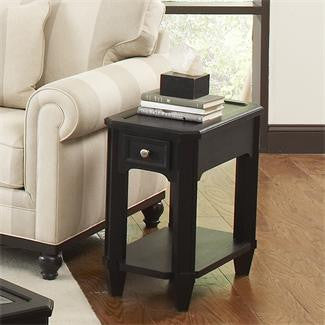 Riverside Farrington Chairside Table-Wood Top