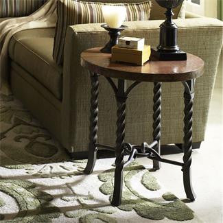 Riverside Medley Round Lamp Table