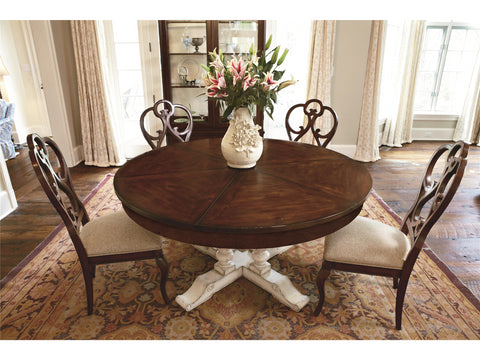 Harbor Springs Round Extending Dining Table Top and Base