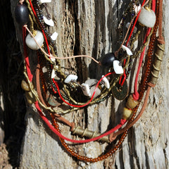 multi strands mixed bead necklace