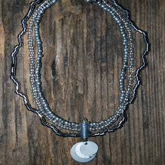 aluminum beaded necklace