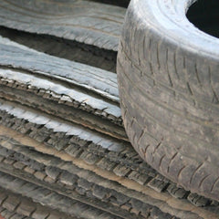 prepping tire tread for sandals