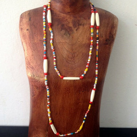 Handcrafted Beaded Festival Necklace