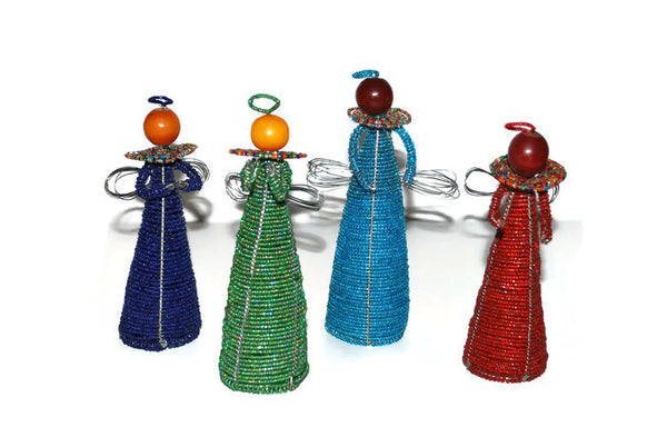 Handcrafted Beaded Cone Angels