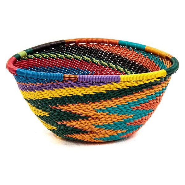 full rainbow small triangle basket